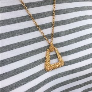 Sarah Coventry Golden Sunset Pendant Necklace